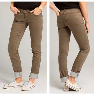 Prana Kara Mid Rise Jeans Organic Cotton Skinny